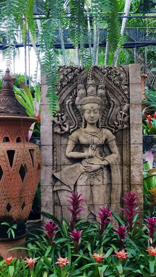 Arte no jardim de Noongnuch fotos de stock royalty free