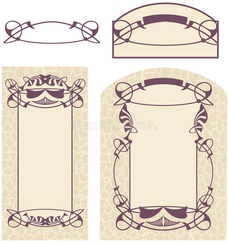 Arte Nouveau illustrazione di stock