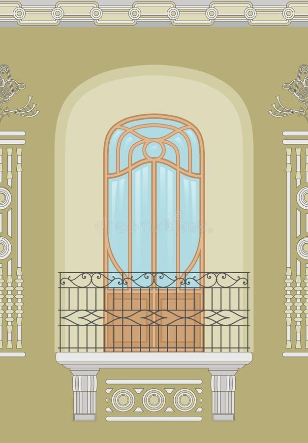 Arte Nouveau - fachada inconsútil libre illustration