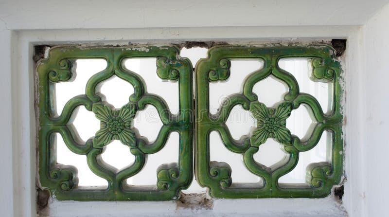 Arte oreintal verde fotografia stock