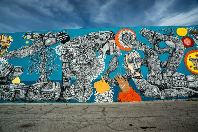 Arte público en Las Vegas céntrico revitalizado imágenes de archivo libres de regalías