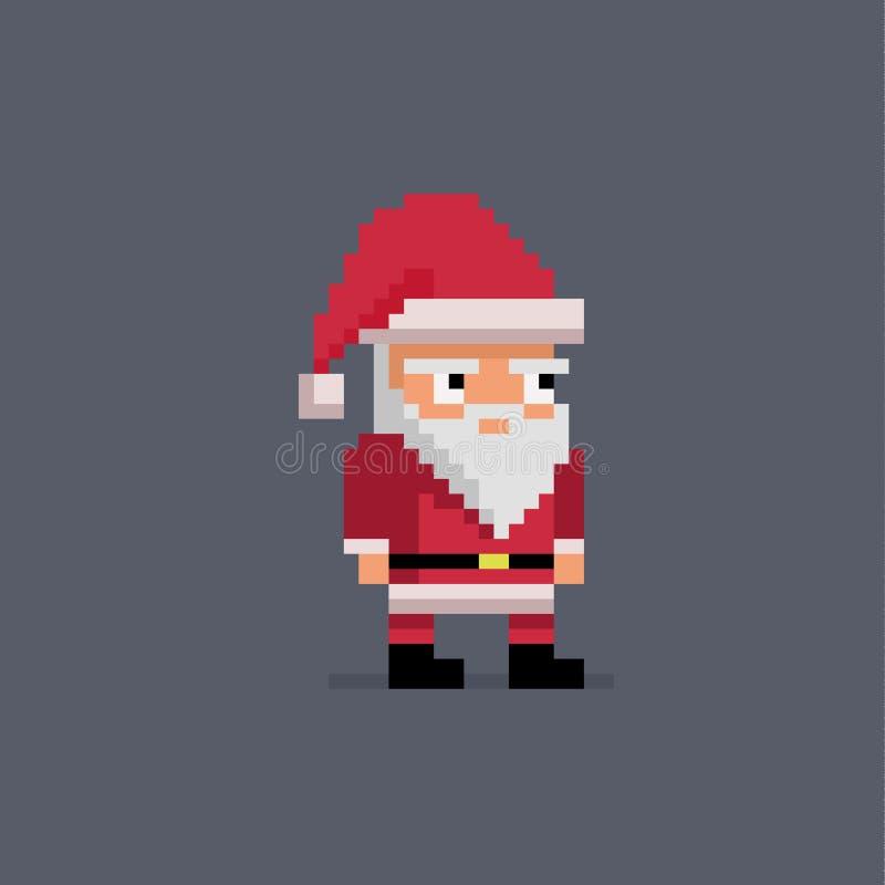 Arte Papá Noel lindo del pixel ilustración del vector