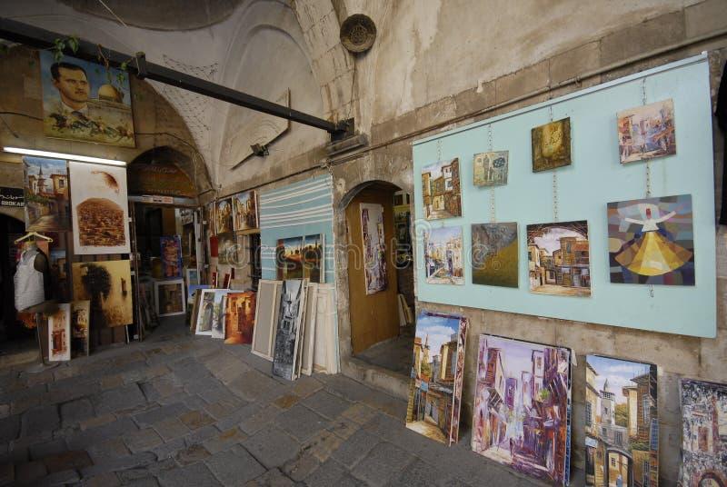 Arte para a venda em Damasco fotos de stock royalty free