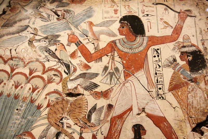 Arte pintada egípcia foto de stock