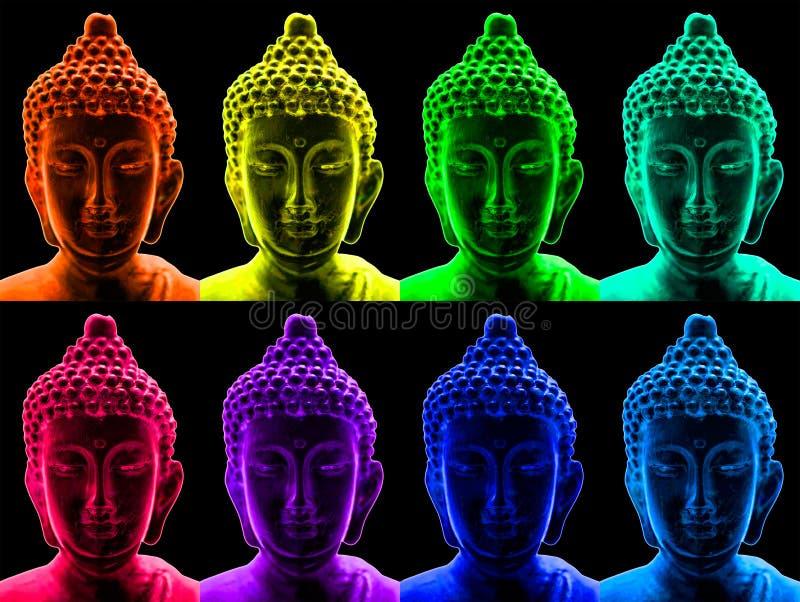 Arte pop Buddha ilustración del vector