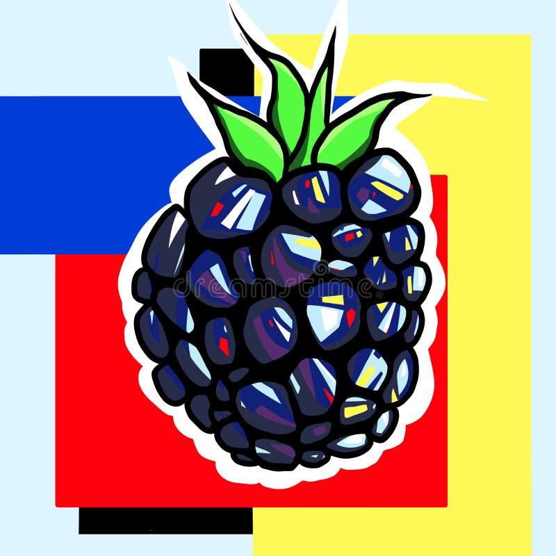 Arte pop de Blackberry fotos de archivo libres de regalías