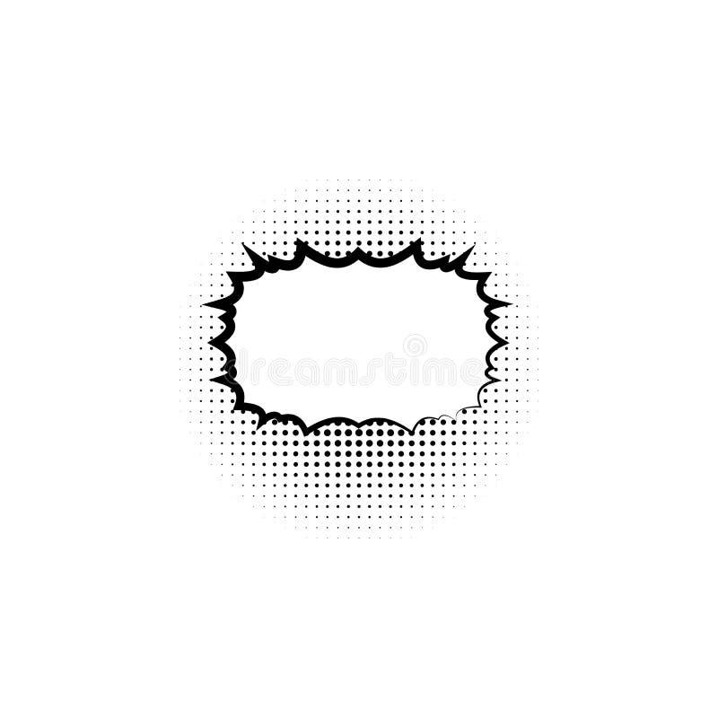 Arte pop de semitono del estilo del fondo del punto del texto de la plantilla del espacio en blanco del discurso de la estrella d libre illustration