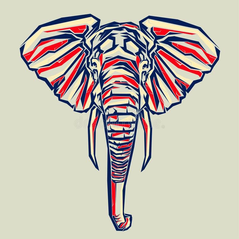 Arte pop del elefante stock de ilustración