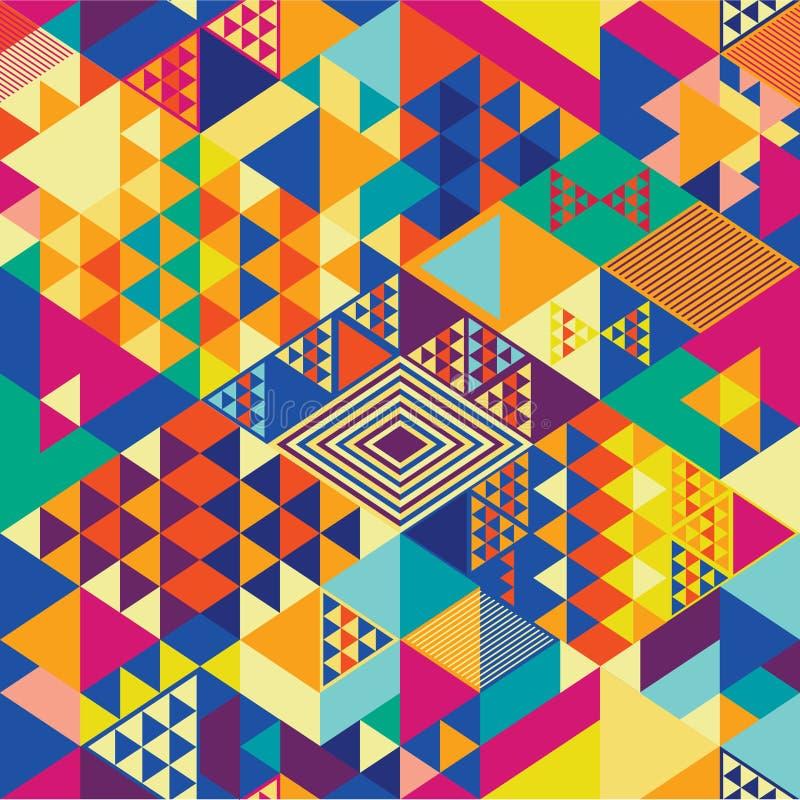 Arte pop geométrico del modelo stock de ilustración