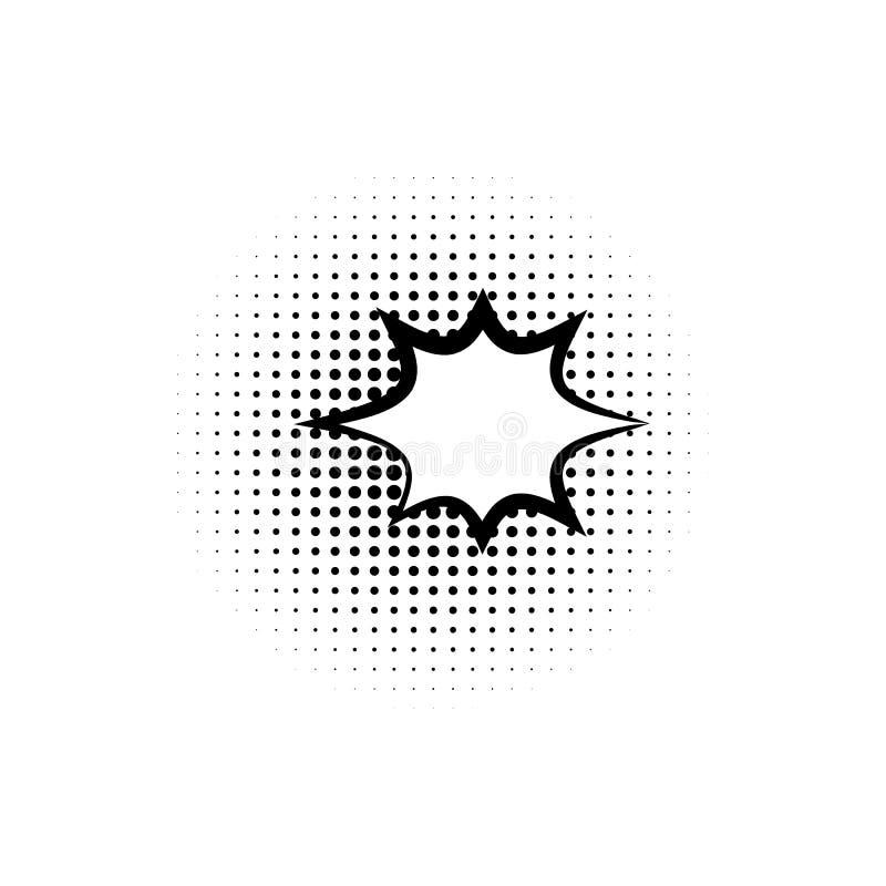arte pop, icono de la burbuja del discurso Elemento del icono del estilo del arte pop del ic de la burbuja del discurso Muestras  stock de ilustración