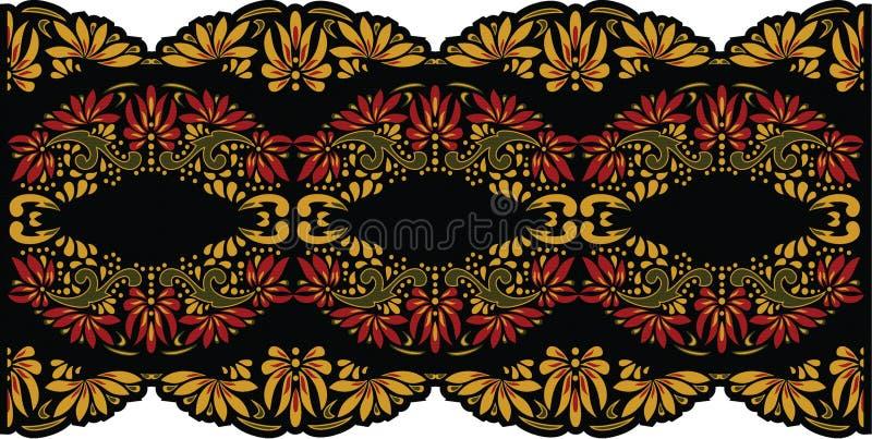 Arte popular bonita, decoração floral foto de stock royalty free