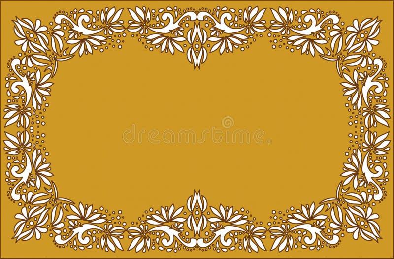 Arte popular bonita, decoração floral fotografia de stock