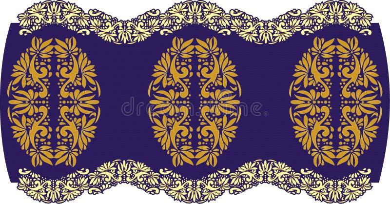 Arte popular bonita, decoração floral imagens de stock