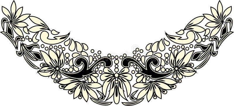 Arte popular bonita, decoração floral foto de stock