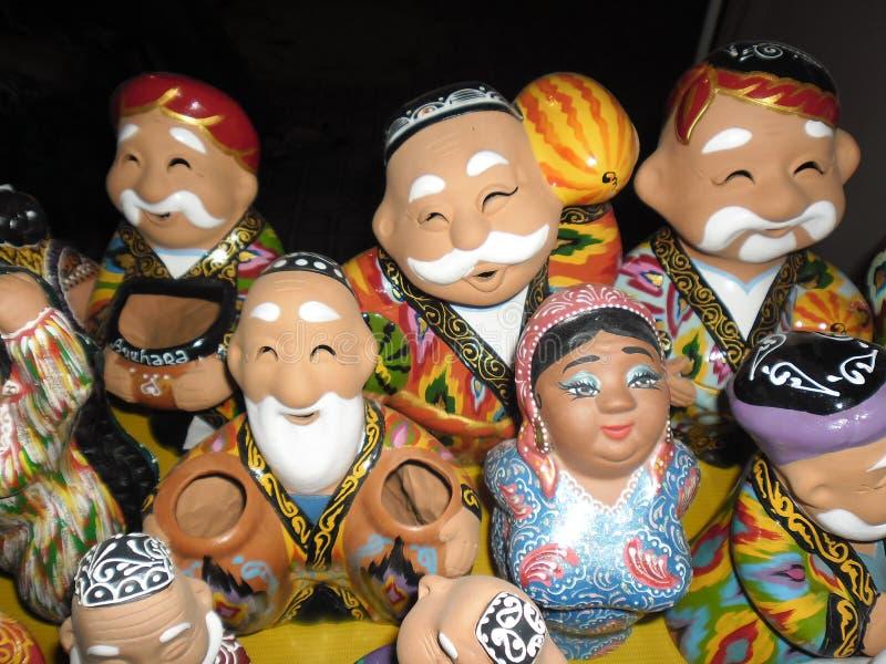 Arte popular de Usbequistão fotografia de stock