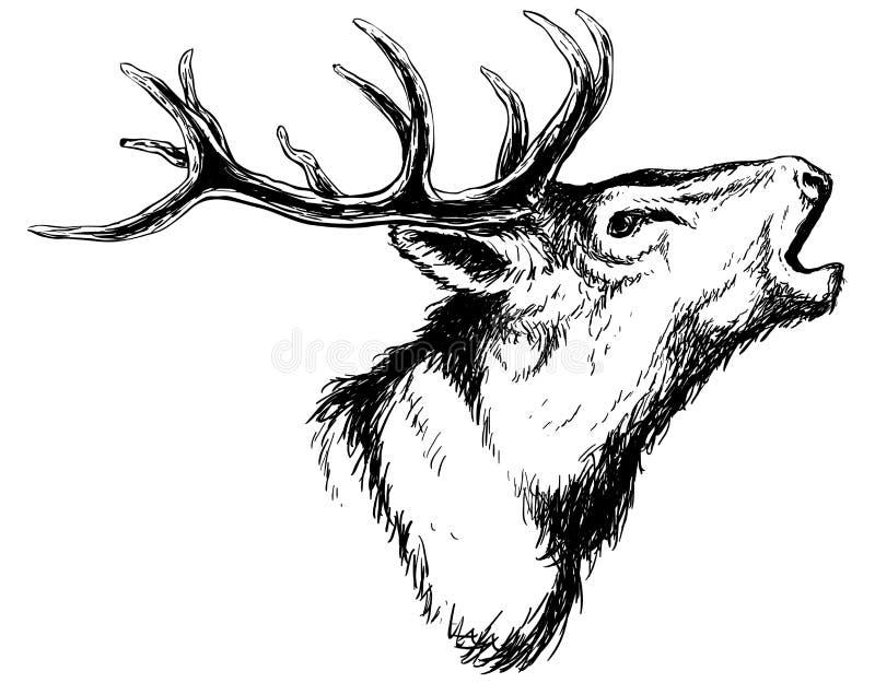 Arte profunda de grito ilustração stock