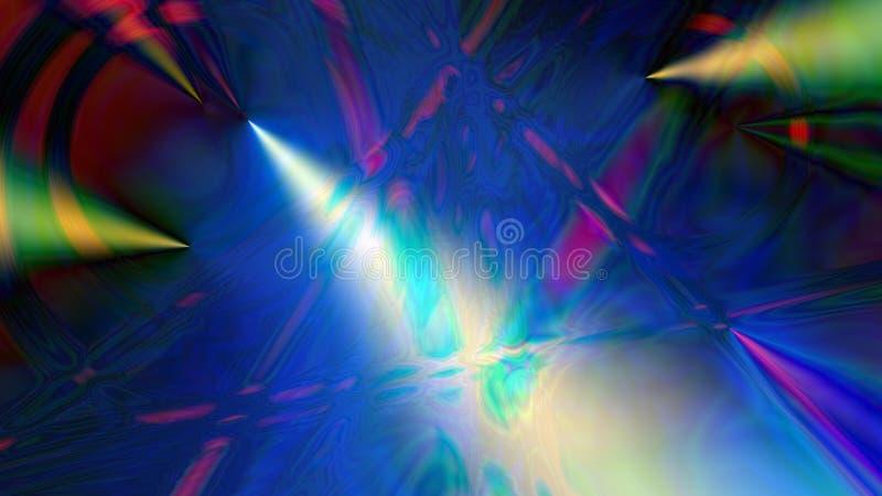 Arte psicadélico consistindo do fundo digital abstrato ilustração stock