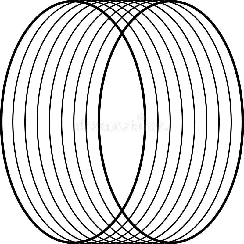 Arte ?ptico Ilusi?n abstracta blanco y negro de Geomrtric Vector libre illustration