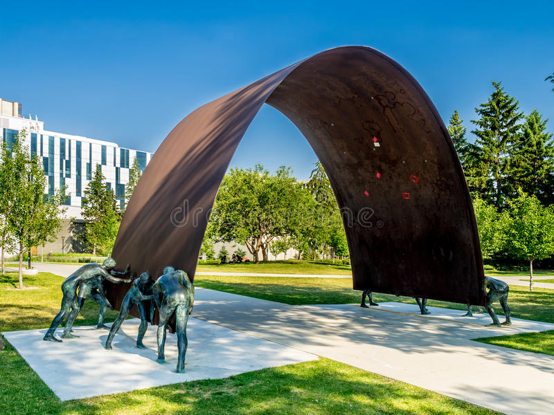 Arte pubblica all'università di Calgary immagine stock