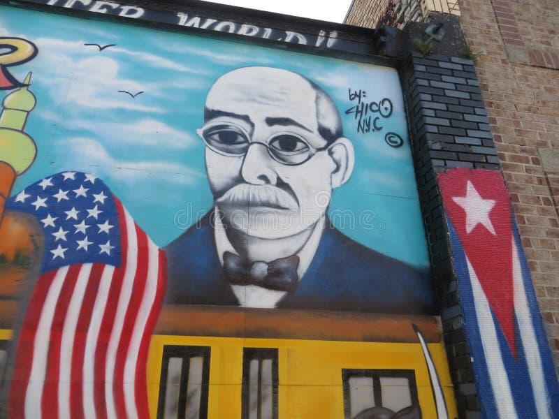 Arte pubblica, città di Ybor, Tampa, Florida immagini stock libere da diritti
