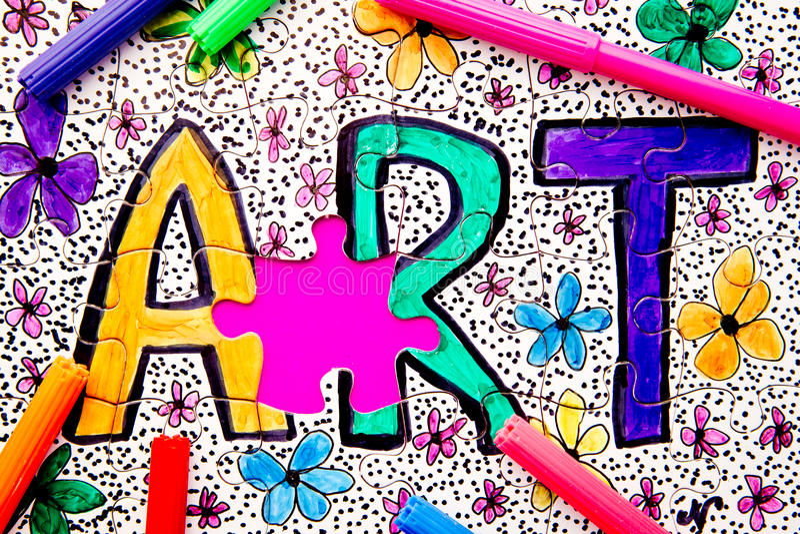 Arte - puzzle immagini stock