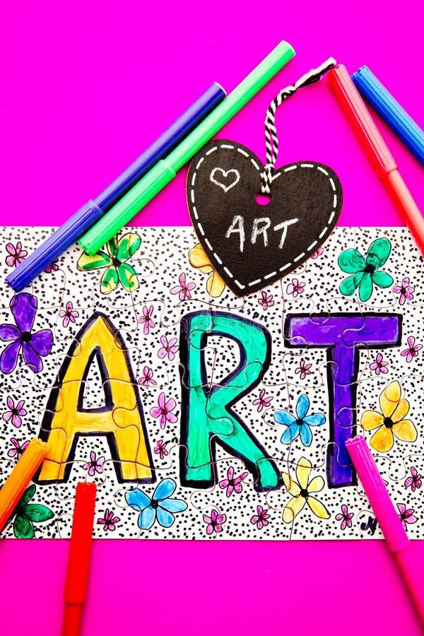 Arte - puzzle fotografie stock