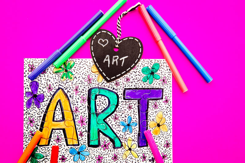 Arte - puzzle fotografia stock