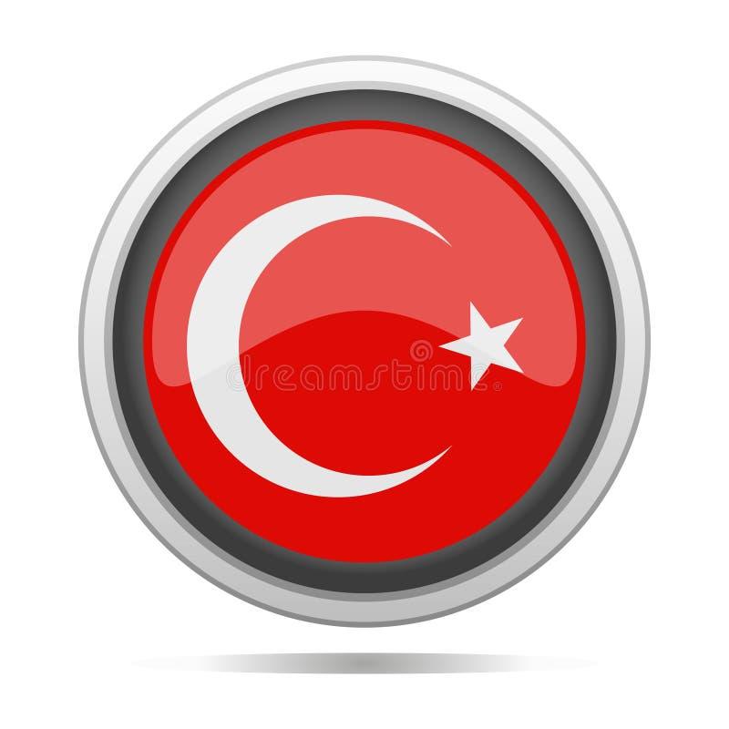 Arte redondo del vector de la ciudad del diseño del símbolo del metal de la bandera de Turquía libre illustration