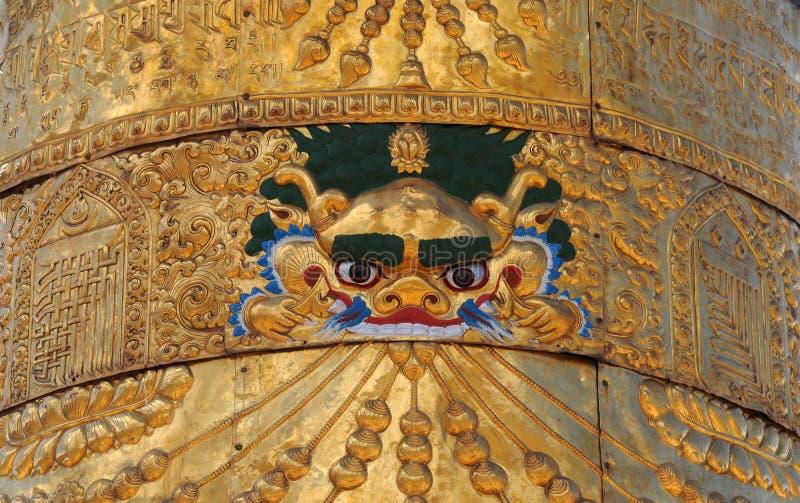 Arte religioso tibetano foto de archivo libre de regalías