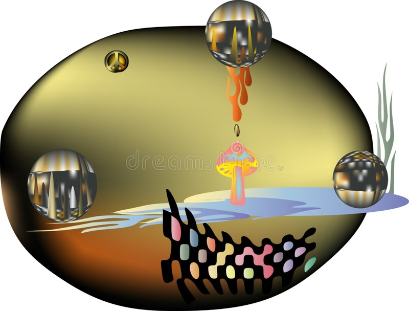 Download Arte retro de la paz ilustración del vector. Ilustración de modelo - 7279704