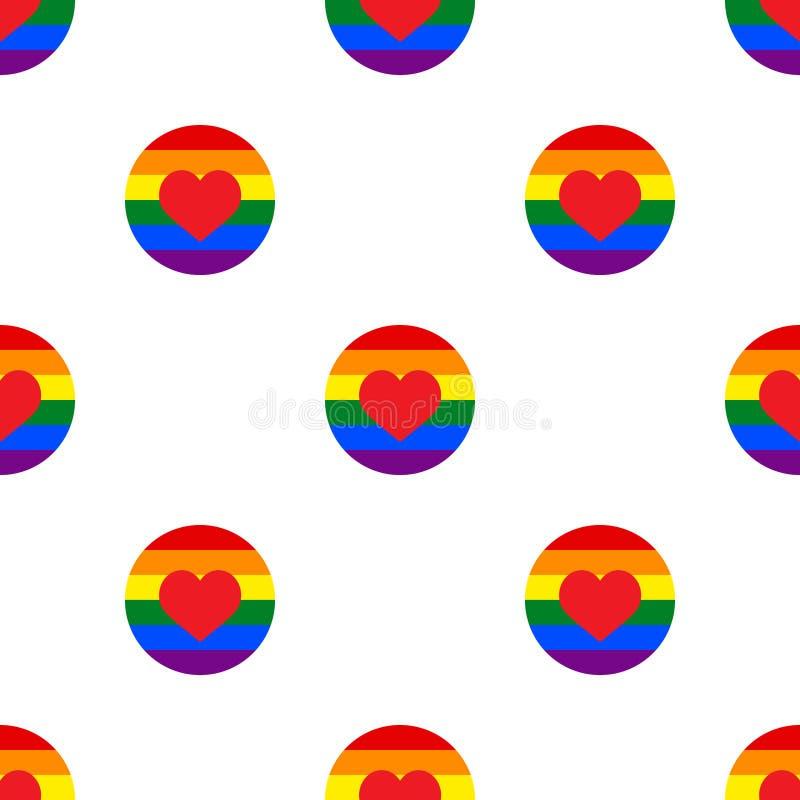 A arte retro do projeto do vintage colorido abstrato geométrico sem emenda do fundo do vetor do teste padrão de às bolinhas com o ilustração do vetor