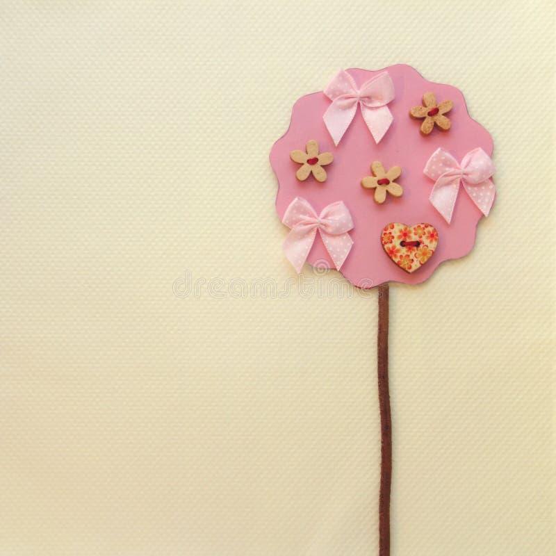 Arte rosado del árbol foto de archivo libre de regalías