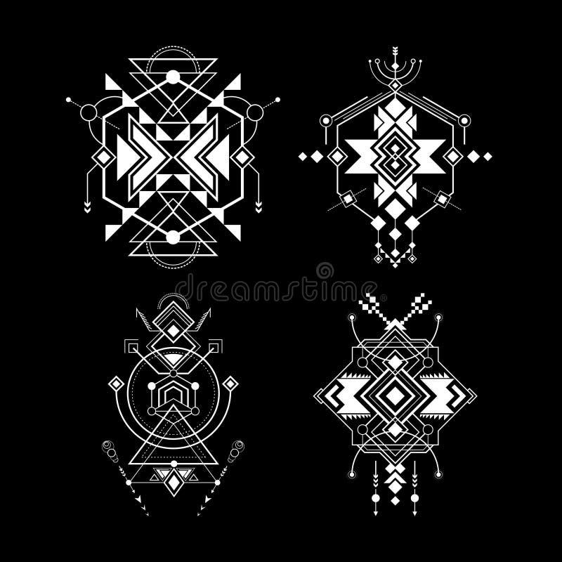 Arte sagrado do navajo da geometria ilustração royalty free
