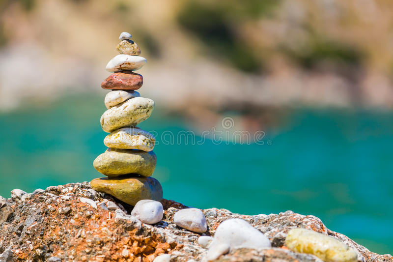 Arte semplice sulla spiaggia fotografie stock