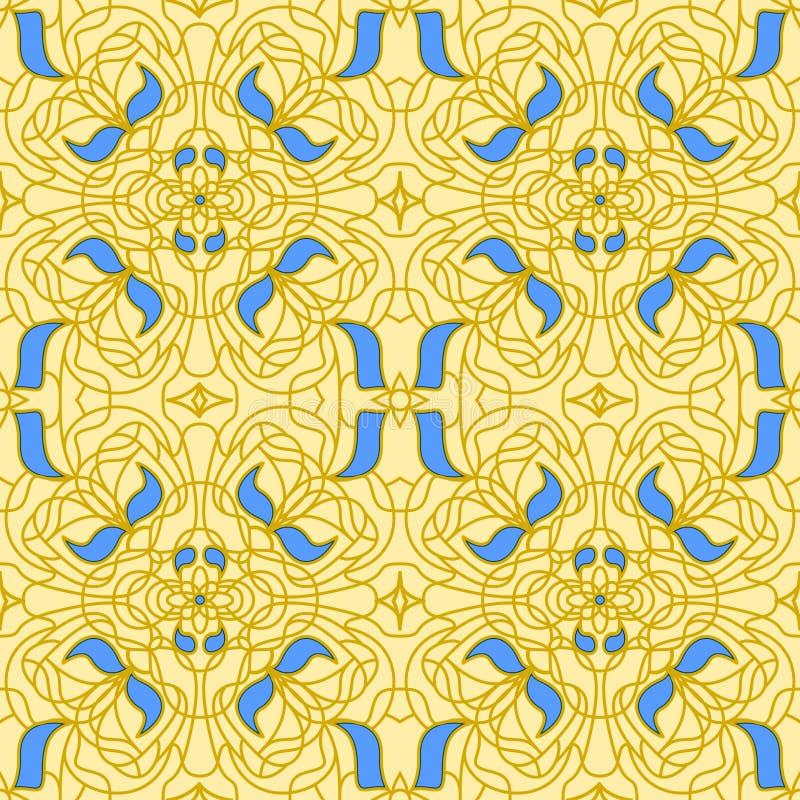 Arte senza cuciture Nouveau del reticolo royalty illustrazione gratis