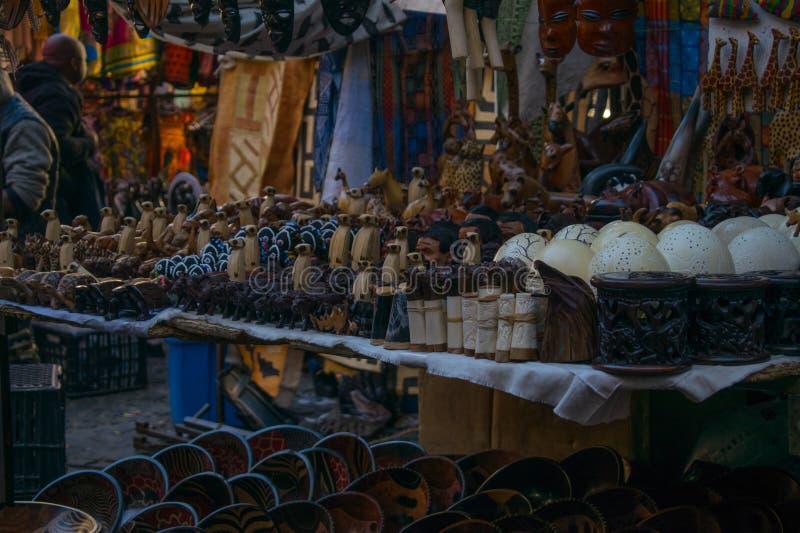 Arte southafrican feito a mão do tribo fotos de stock