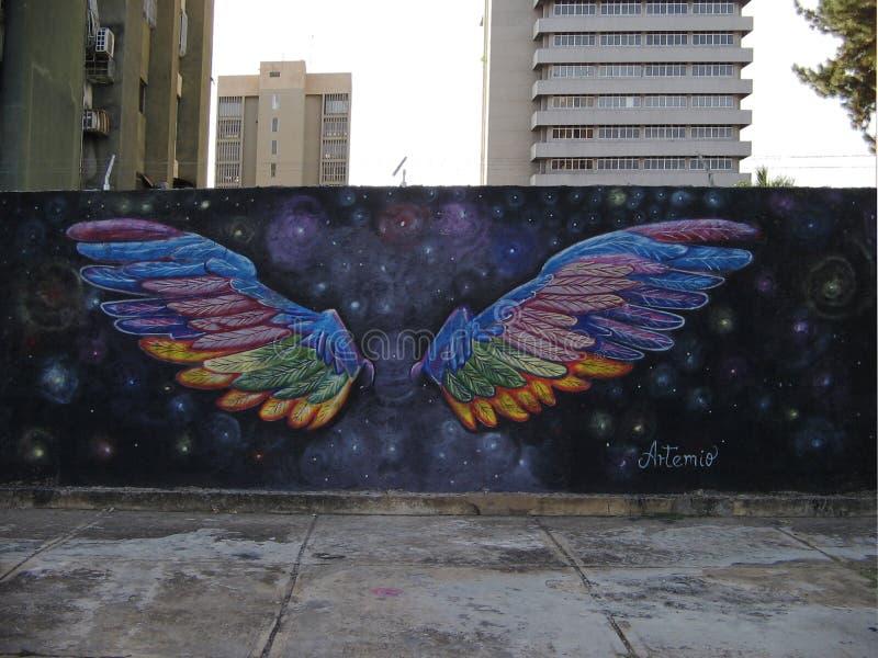 Arte suramericano de la calle, ciudad de Guayana, Venezuela fotografía de archivo libre de regalías