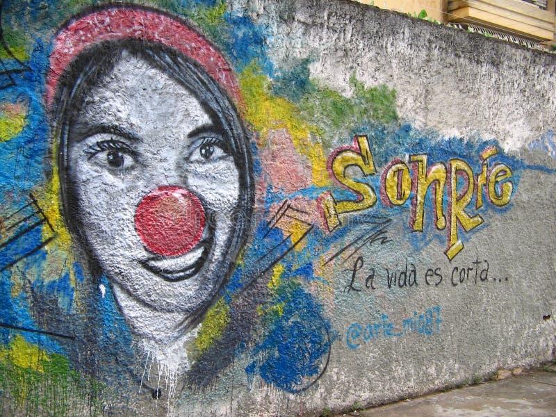 Arte suramericano de la calle, ciudad de Guayana, Venezuela foto de archivo libre de regalías