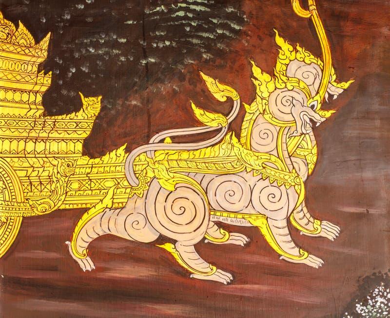 Arte tailandés de la pintura del estilo fotografía de archivo