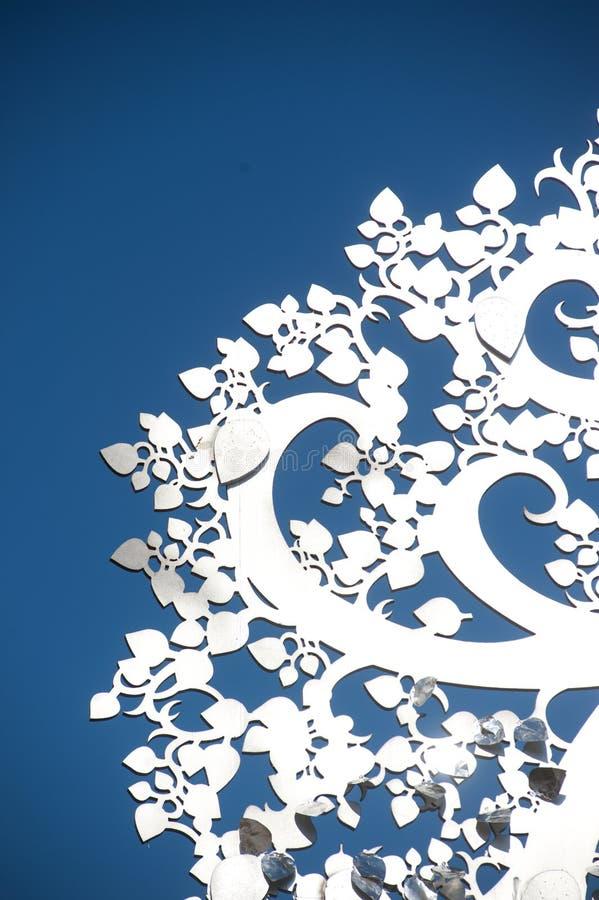 Arte tailandés de madera del árbol de plata. fotos de archivo libres de regalías