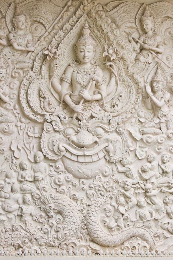 Arte tailandés tradicional del moldeado del estilo imágenes de archivo libres de regalías