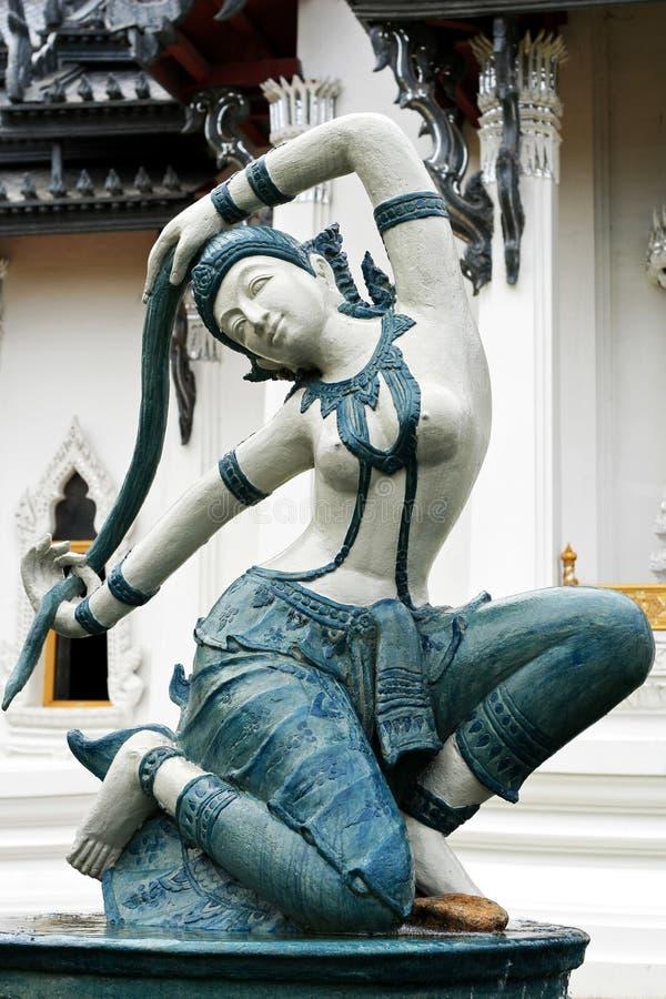 Arte tailandesa da estátua imagem de stock royalty free