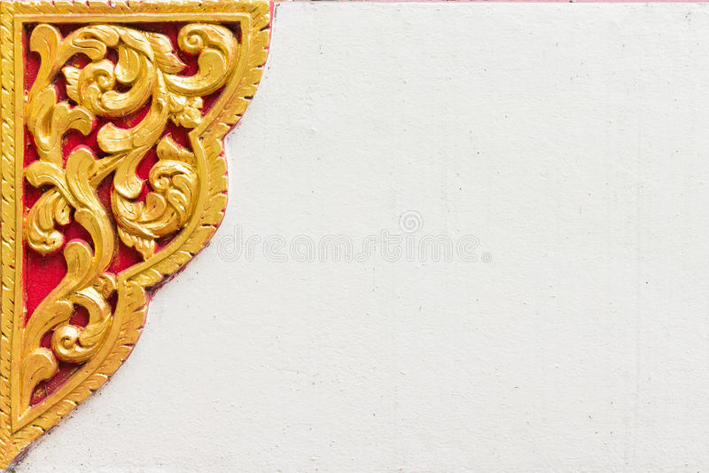 Arte tailandesa do molde do estilo fotografia de stock royalty free