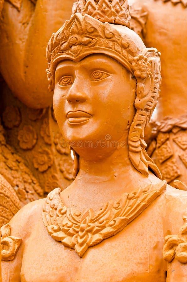 Arte tailandesa do molde do estilo feita da vela foto de stock royalty free