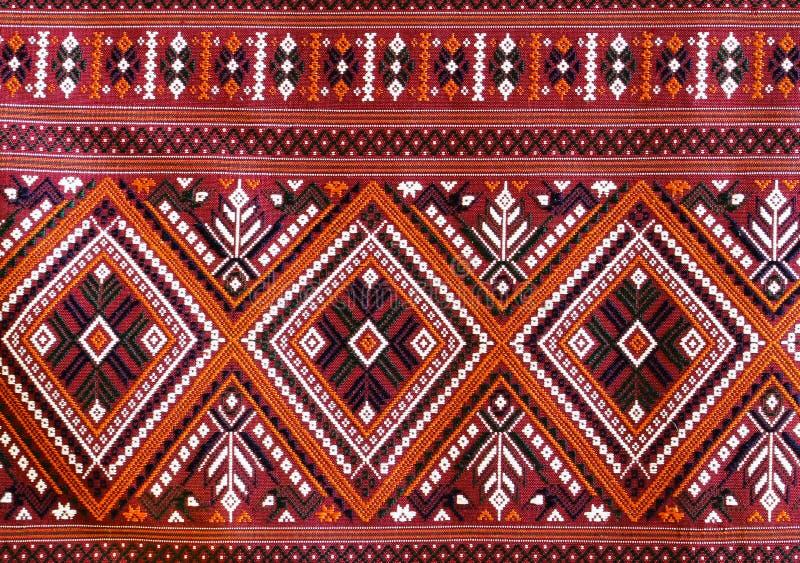 A arte tailandesa elegante em telas hand-woven fotografia de stock