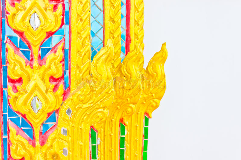 Arte tailandesa no templo imagens de stock royalty free