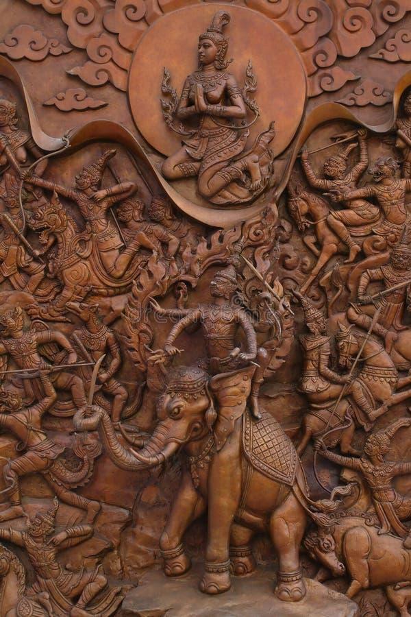 Arte tailandesa tradicional foto de stock