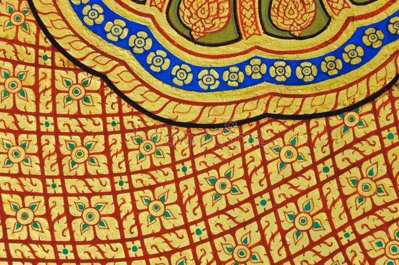 Arte tailandesa tradicional como o fundo fotos de stock