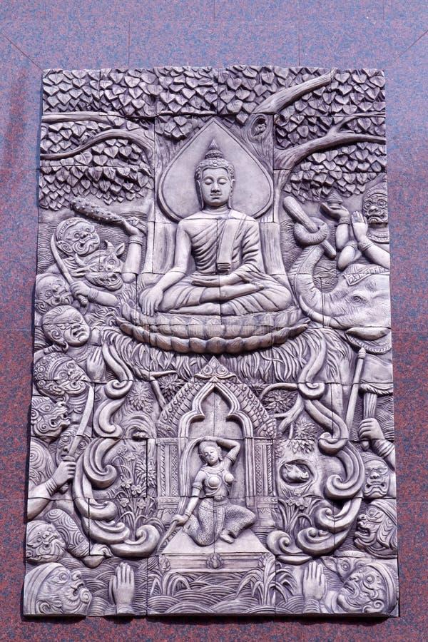 Arte tailandesa tradicional do molde do estilo imagens de stock