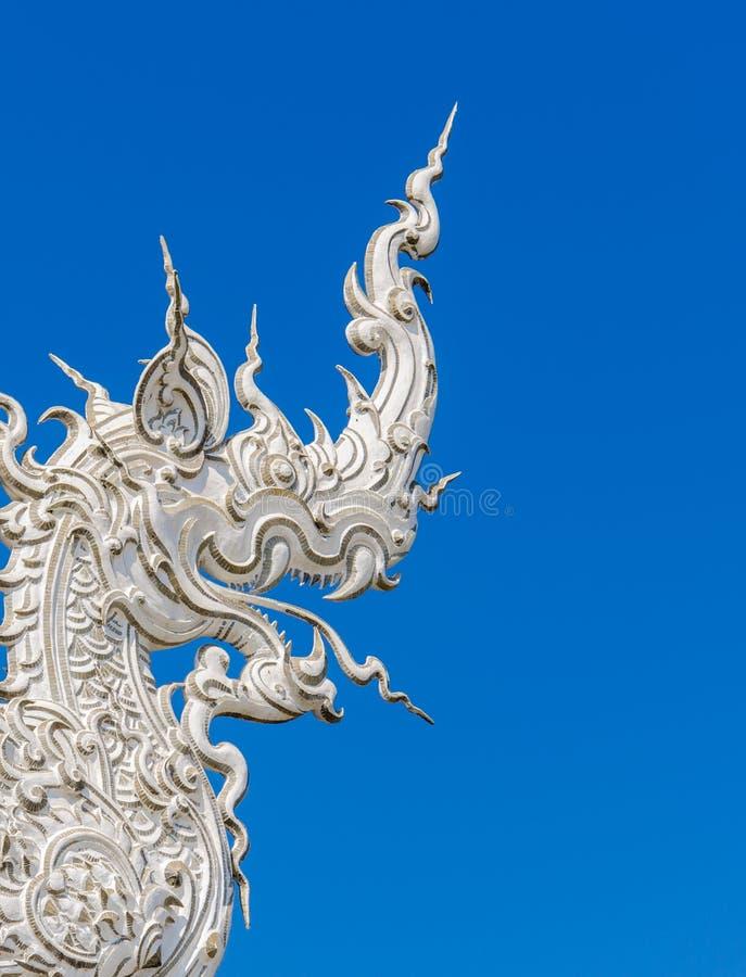 Arte tailandese del tempio di Wat Rong Khun in Chiang Rai, Tailandia immagine stock libera da diritti